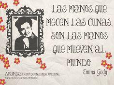 """""""Las manos que mecen las cunas, son las manos que mueven al mundo."""" Mujeres de la historia: Emma Godoy (Guanajuato, 25 de marzo de 1918 - Ciudad de México, 30 de julio de 1989), fue una escritora y locutora mexicana que se distinguió por promover la defensa de la dignificación de la vejez.  #universoamanda #secretosdefelicidadcotidiana #felicidad #diariodeunabrujamoderna"""