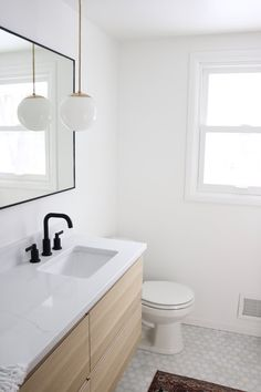 Ikea Hacks: Three ideas for your leftover countertops — Mountainside Home Ikea Hack Vanity, Ikea Hack Bathroom, Ikea Bathroom Vanity, Floating Bathroom Vanities, Condo Bathroom, Floating Vanity, Bathroom Furniture, Small Bathroom, Kitchen Vanity