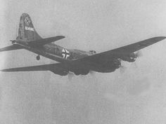 "Luftwaffe Resource Group - B-17 Flying Fortress captured and used for training in anti-bomber tactics.  She was called ""Wulf Hound."""