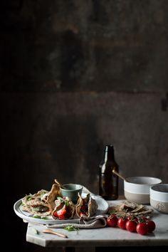 Tacos con crema di melanzane e verdure  