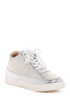 Derek Perforated High-Top Sneaker