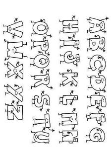 Lettering Styles Alphabet, Hand Lettering Fonts, Doodle Lettering, Types Of Lettering, Alphabet Letter Templates, Letter Stencils, Bullet Journal Headers And Banners, Abc Letra, Coloring Letters