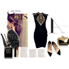 """""""black gold"""" by ibesrahim on Polyvore"""