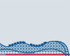 Roller Coaster PowerPoint Template with light background color