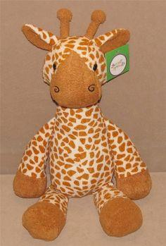 "18"" NWT 2013 Animal Adventure Sweet Sprouts Cream Giraffe Plush Toy Target New #AnimalAdventure"