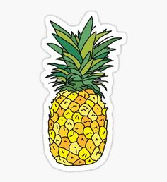 cute pineapple fruit Pegatina