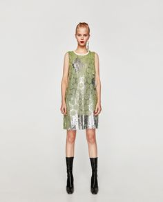 Image 4 of SEQUIN MINI DRESS from Zara