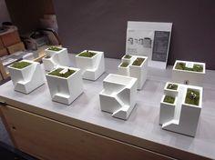 120907_ienami Conceptual Model Architecture, Concept Architecture, Architecture Design, Concrete Pots, Concrete Design, Geometric Shapes Art, Arch Model, Concrete Crafts, Ceramic Houses
