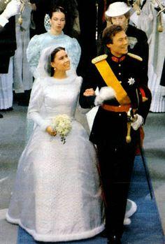 Wedding of Hereditary Grand Duke Henri of Luxembourg and Maria Teresa Mestre y Batista-Falla (Grand Duchess Maria Teresa) on 14 February 1981.