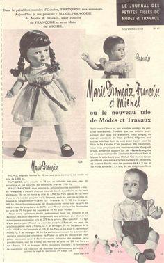 PAR AMOUR DES POUPEES :: M&t 1958-11 robe habillée pour Françoise et Francette (couture)