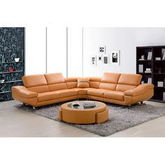 Best Quality Furniture Sectional Upholstery Orange