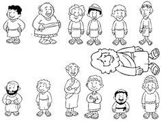 Imagenes Cristianas Para Colorear: Dibujos Para Colorear De Los Doce Discipulos