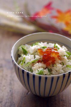 三つ葉と冥加の混ぜご飯☆ | 美肌レシピ