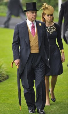 Prince Andrew at Ascot 2013 (with Princess Beatrice)