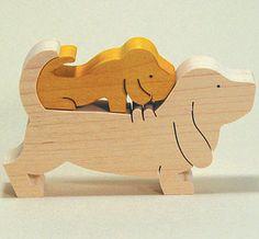 組み木 木のおもちゃ 『遊プラン』 KA702 | バゼットハウンド・MC