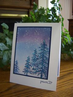 Nighttime Snowfall by stampin'nana - Cards and Paper Crafts at Splitcoaststampers