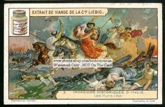 Attila The Hun Invades Italy 1920s Card