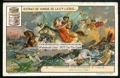 Attila The Hun Invades Italy 1920s Card