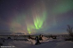 Northern Lights over Myvatn, Iceland