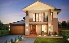 For an ideal home that fits your growing and extended families, choose only Duxton. This famous house is truly a stylish, contemporary home. Facade Design, House Design, Exterior Makeover, Display Homes, Facade House, Second Floor, Future House, Interior And Exterior, Ideal Home