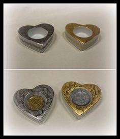 Coeurs or et platine