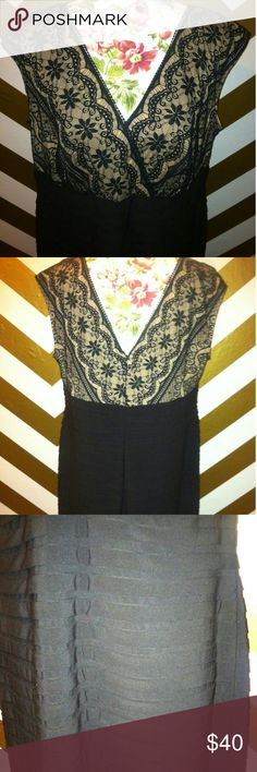 Dress barn collection tummy control sheath dress s Dress barn collection tummy control sheath dress size 18 with lace detail like new condition Dress Barn Dresses