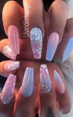 Top 100 Acrylic Nail Designs of May Page 20 Topp 100 akryl negledesign fra mai Side 20 # Classy Acrylic Nails, Summer Acrylic Nails, Best Acrylic Nails, Acrylic Nail Art, Summer Nails, Best Nails, Acrylic Nail Designs For Summer, Acrylic Nail Designs Classy, Cute Nails