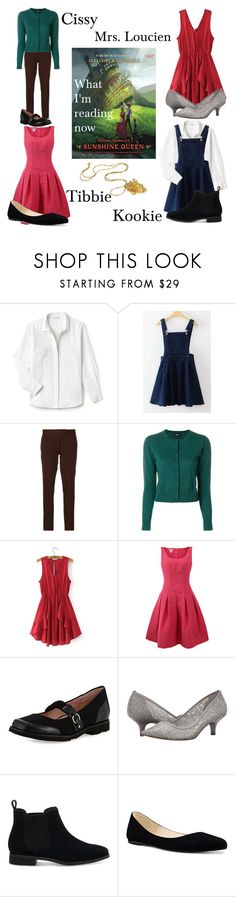 """The Glorious Adventures of the Sunshine Queen"" by megdelaina ❤ liked on Polyvore featuring Lacoste, WithChic, Joseph, Paule Ka, Oscar de la Renta, Taryn Rose, Adrianna Papell, TOMS and Nine West"