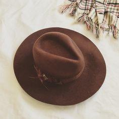 Forever 21 Accessories - Forever 21 brown felt fedora floppy festival hat