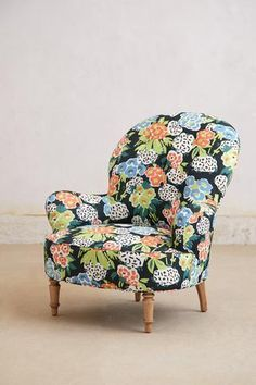 Boho or floral chair