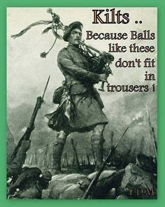 Kilts....love 'em...Don't judge me for where I pinned this but I didn't know where else to