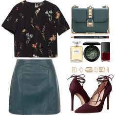Jade by vansousa on Polyvore featuring Zara, New Look, Massimo Matteo, Valentino, Accessorize, MAC Cosmetics, Bobbi Brown Cosmetics and NARS Cosmetics