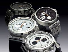 """Issey Miyake watch collaborators. Japanese Audi A5 designer, Satoshi Wade delivers the """"W"""" chronograph for Miyake's watch line"""