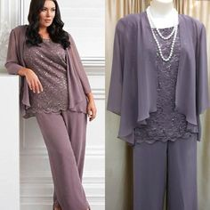 Real Picture New Fashion 2016 Three Pieces Lace Chiffon Mother'S Pants Suit Purple Long Mother Of The Bride Dress Wedding Party Gown Plus Size Mother Of Bride Dress Plus Size Mother Of The Groom Dress From Enjoyprom, $110.08| Dhgate.Com