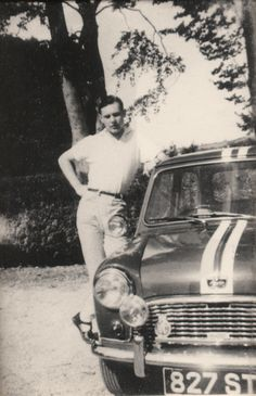 Brian Harper - Founder of Mini Sport Ltd with his first Mini in 1960.