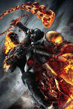 Brutales ilustraciones de Ghost Rider, el motorista Fantasma - Taringa!