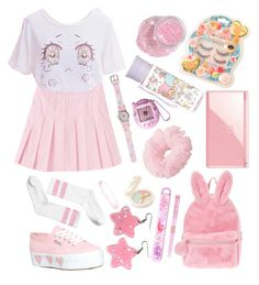 """""""Fairy/Party Kei #30 ⭐️✨"""" by anniebeexoxo on Polyvore featuring Bourjois, Superga, Monki, Forever 21 and Nintendo"""