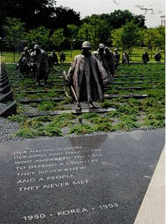 The Korean War Memorial, D.C.  R.I.P Uncle Clyde    MIA/KIA 1-1-51