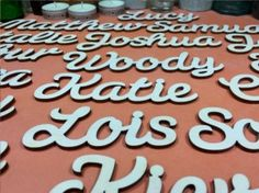 Custom Wooden Word 5cm - Susa Font Plywood Words
