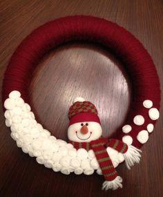 Snowman Winter Wreath. $35.00, via Etsy.
