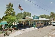 Needles attractions: El Garces, Route 66 Motel, Palm Motel and the Mystic Maze, Route 66 lodging and landmarks Needles California, Route 66, Lodges, Outdoor Decor, Google Search, Cabins