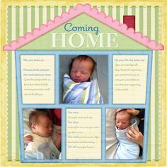 baby coming home scrapbooking layouts - Google Search