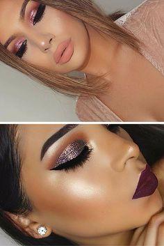Ideias de maquiagem com glitter. Post completo no blog!