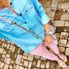 918e3851b78fc Blush skinny jeans. Tory burch miller sandals.