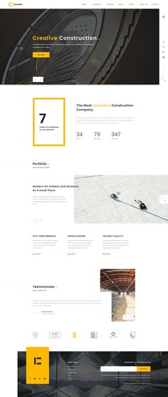Conster - Creative Construction, Architecture and Industrial PSD Template #psd #Construction Template #interior • Download ➝ https://themeforest.net/item/conster-creative-construction-architecture-and-industrial-psd-template/18980013?ref=pxcr
