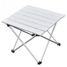 Camping Kampa Mini Lightweight Side Table White Caravan