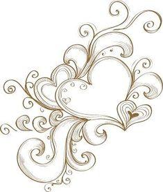 Heart Tattoo Design have dad add this to my shoulder tattoo:) I love the hearts… Design Tattoo, Heart Tattoo Designs, Henne Tattoo, Heart Doodle, Neue Tattoos, Wood Burning Patterns, Lower Back Tattoos, Tattoo Drawings, Swirls