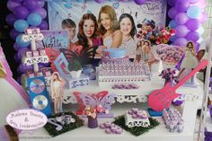 Mesas_Decoração festa tema Violetta
