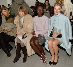 Calvin Klein Pre Fall 2014 Sweater Mini Dress, Python Flap Clutch & Cobra Chain Sandals, Dana Rebecca Designs Lauren Joy Earrings & Reese Brooklyn Ring