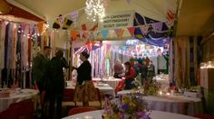 Wedding decoration at the scout hut
